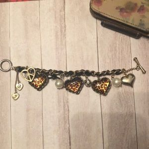 Betsey Johnson cheetah print bracelet
